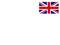 My English Logo white